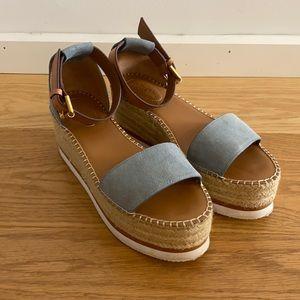 Designer Platform Sandals   leather   Size 39 EUR
